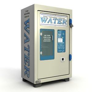 3D water vending machine