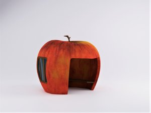 3D red apple house