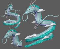 dragon form haku 3D model
