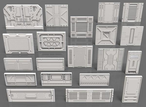 sci fi panels - 3D model