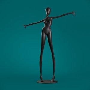 windowfrance mannequin 608 coll 3D