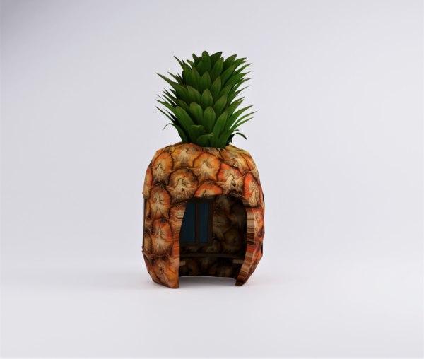 3D pineapple house