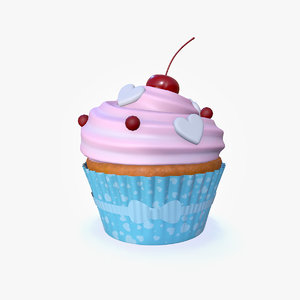 3D model cupcake candy topping