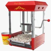 real popcorn machine 3D model