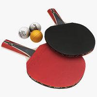 ping pong paddle ball 3D