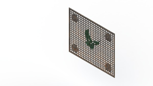 3D metal decor model