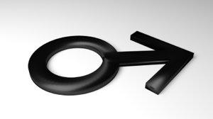 symbol male 3D model