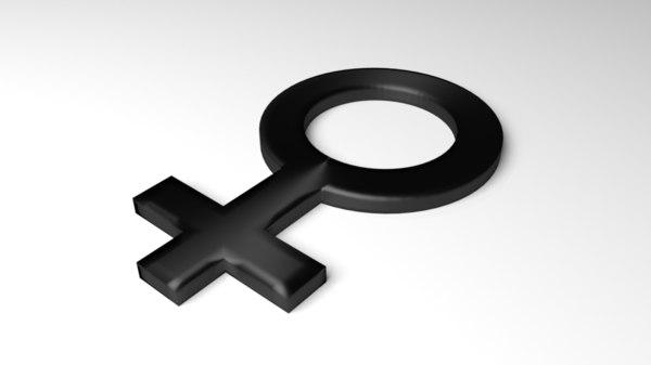 symbol female 3D