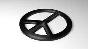symbol peace 3D model