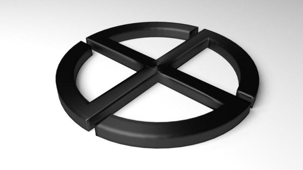 3D symbol pagan model