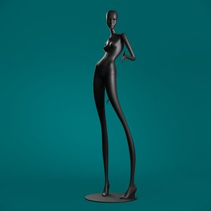 3D model windowfrance mannequin 6010 coll