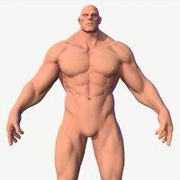 3D model character male hero body