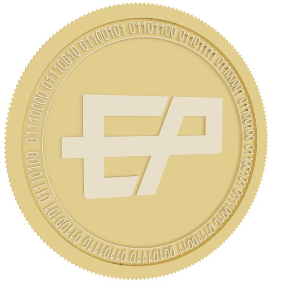 3D etherparty gold coin
