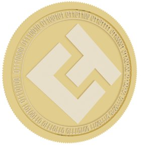 3D model eternal token gold coin
