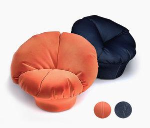 chair d3co seat 3D model