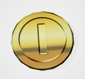 3D model gold coin