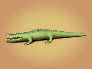 cartoon crocodile 3D