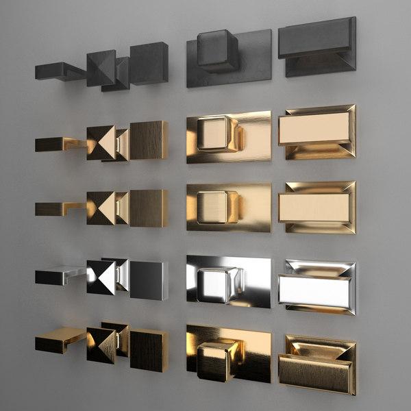 3D handles knobs model
