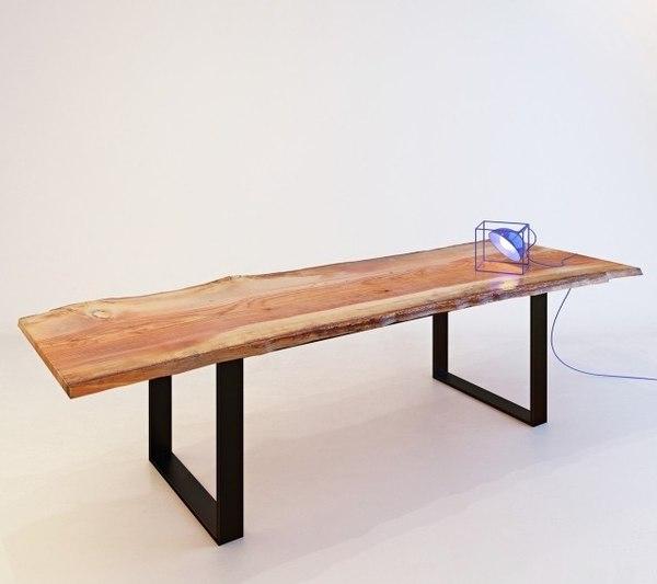 table desk natural tabletop 3D
