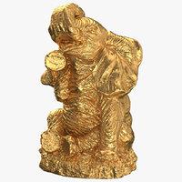 elephant statue gold model
