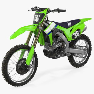 3D motocross bike generic moto model