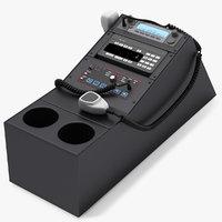 Police Car Radio Control Panel
