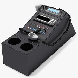 3D police car radio control panel model