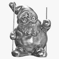 3D model santa claus statue decoration