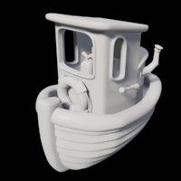 toon tugboat 3D model