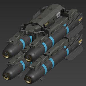 hellfire missile 3D
