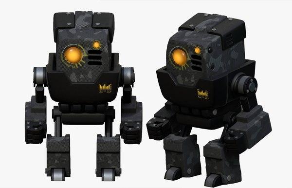 3D robot cyborg p