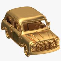 car decoration gold 3D model