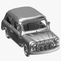 car decoration silver 3D