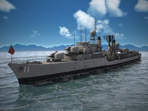 3D ship battle daring