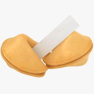 3D fortune cookies model