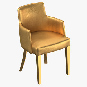 3D lounge chair 01 gold
