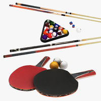 3D model realistic pingpong billard
