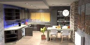 complete kitchen 3D