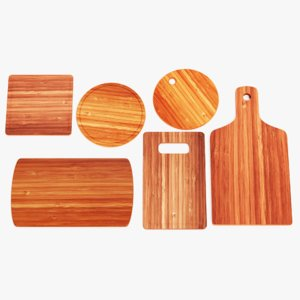 bamboo boards 3D model