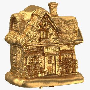 3D christmas tea house decoration