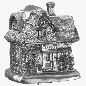 christmas tea house decoration 3D model