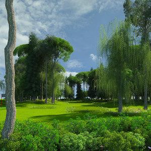 3D model golf course