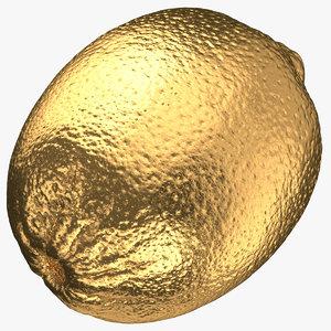 lime 01 gold 3D model