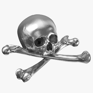 pirate skull bones composition 3D model