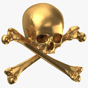 pirate gold skull 3D