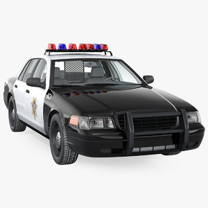 3D generic police car lvmpd
