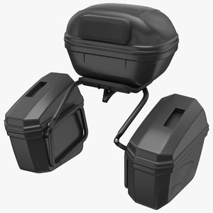 pair luggage case saddlebags 3D