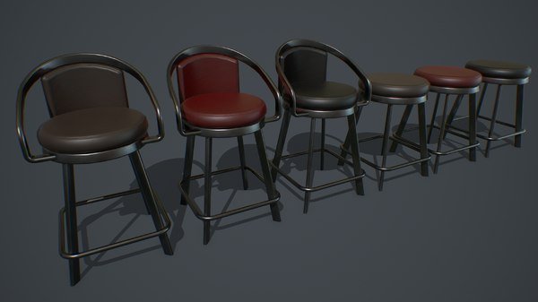 3D model pbr slot machine chair