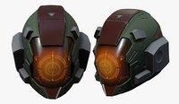 Helmet scifi military combat cyborg robot military combat