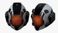 Helmet scifi military combat 3d model soldier cyborg space